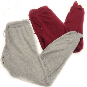 Bundle 2 Pairs Jogger Sweatpants Comfy Loungewear
